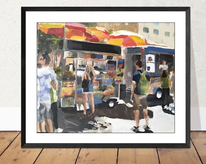 New York Painting Wall art - Canvas Print - Fine Art - from original oil painting by James Coates