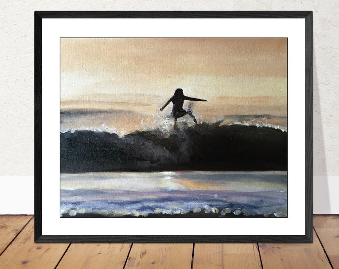 Landscape Painting - Beach art - Beach Print - Fine Art - from original oil painting by James Coates