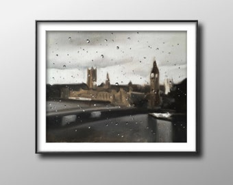 London - Painting -Wall art - Canvas Print - Fine Art - from original oil painting by James Coates