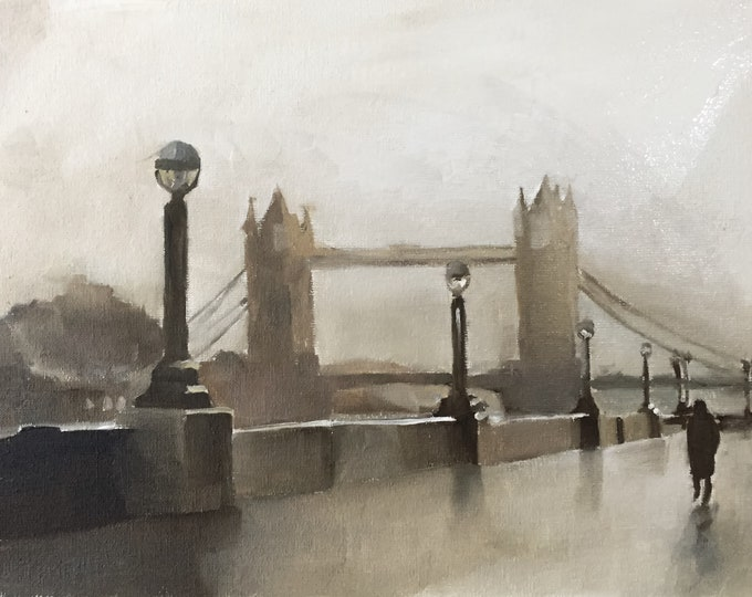London Painting Wall art - Canvas Print - Fine Art - from original oil painting by James Coates