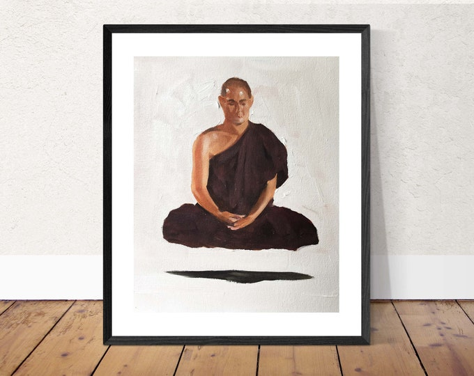 Buddhist Painting Wall art - Canvas Print - Fine Art - from original oil painting by James Coates
