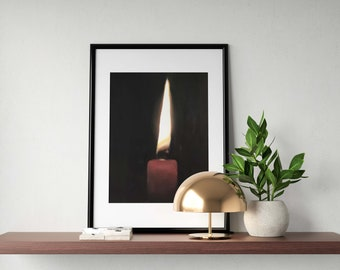 Candle Painting Candle Art Candle PRINT Candle Art Print - 8 x 10 inches - from original painting by J Coates