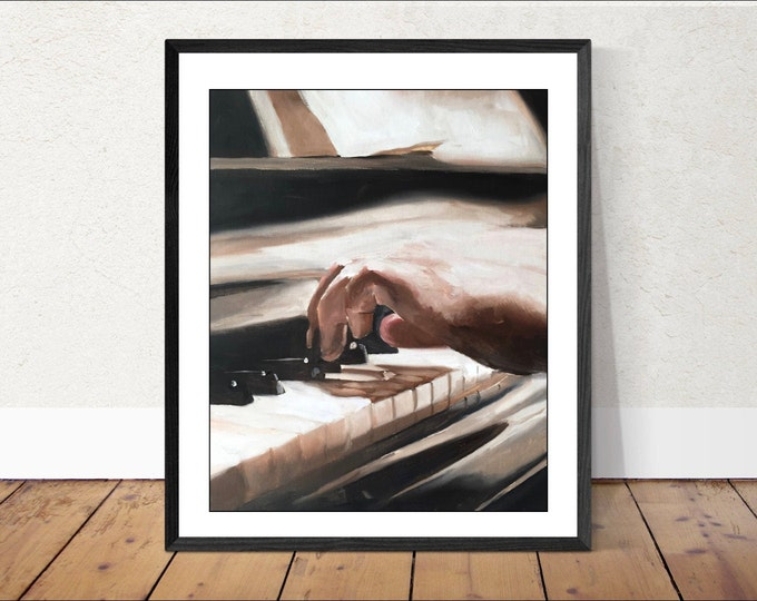 Pianist Painting Wall art - Canvas Print - Fine Art - from original oil painting by James Coates