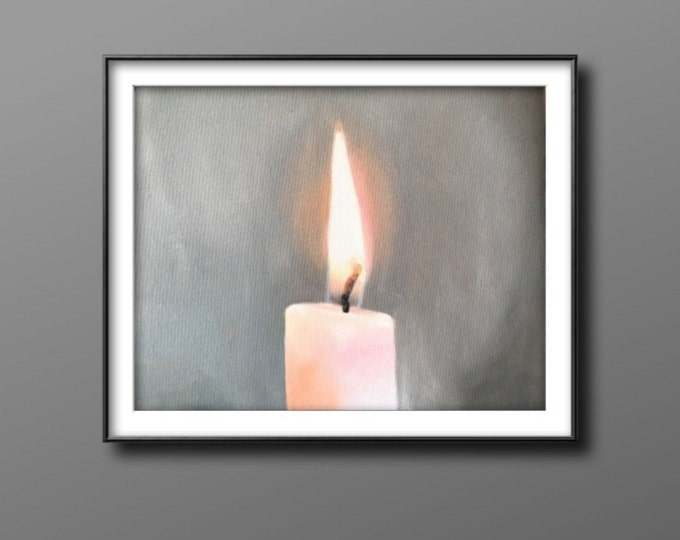 Candle - Painting - Poster - Wall art - Canvas Print - Fine Art - from original oil painting by James Coates