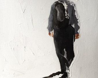 Old Man Painting Old Man Art Old Man PRINT Old Man Walking - Art Print  - from original painting by J Coates