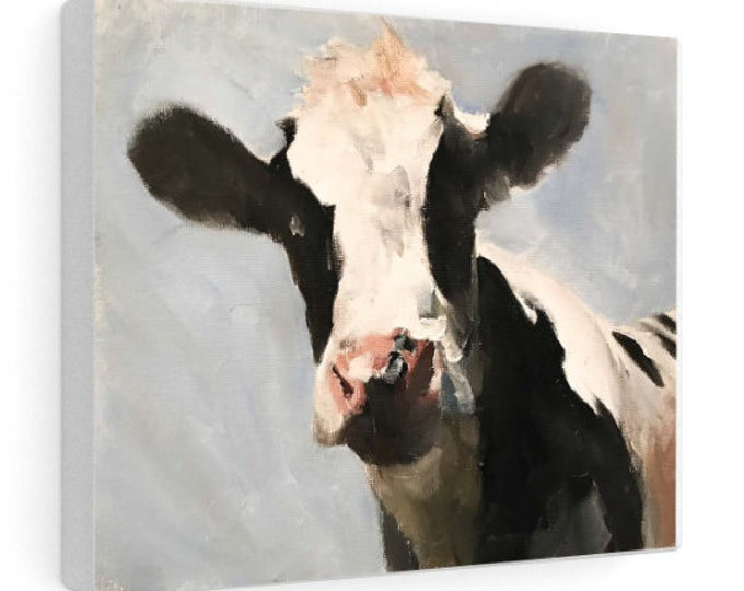 Cow Painting,PRINT, Canvas, Commissions , Cow art, ,Fine Art ,from original oil painting by James Coates