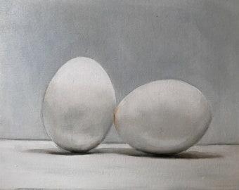 Egg Painting Egg Art Egg PRINT Eggs Art Print - from original painting by J Coates