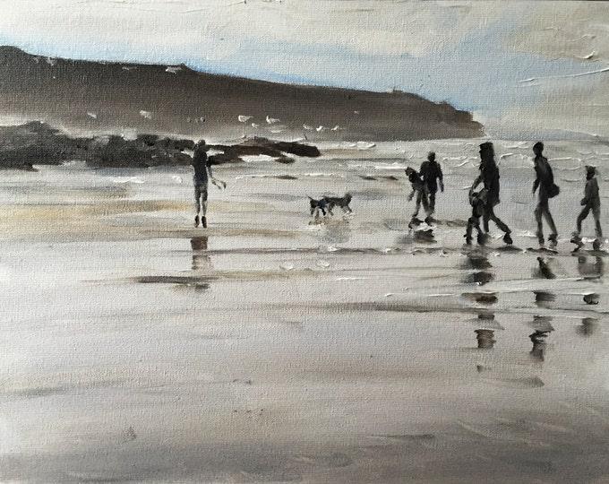 Beach Painting - Beach art - Beach Print - Fine Art - from original oil painting by James Coates