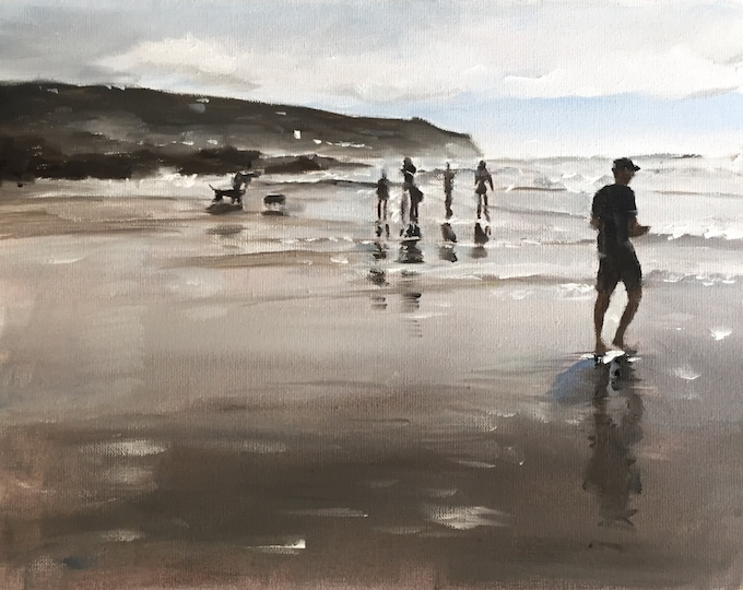 Beach - Painting Beach art - Beach Prints - Fine Art - from original oil painting by James Coates