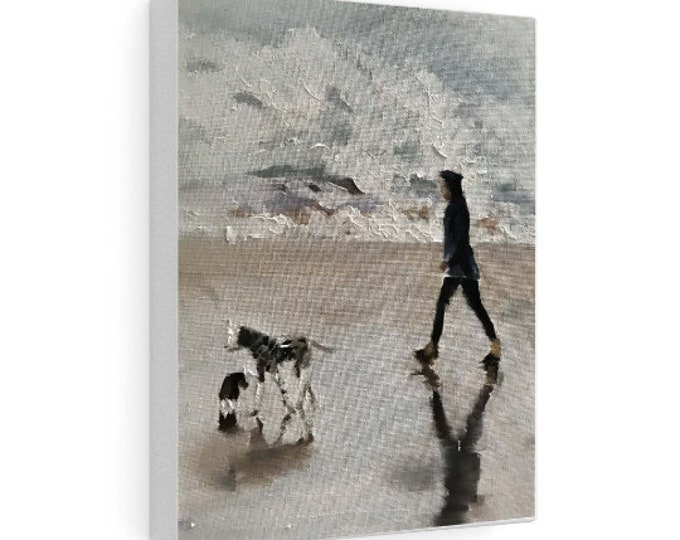 Beach Painting, PRINTS, Canvas, Posters, Commissions, Fine Art - from original oil painting by James Coates