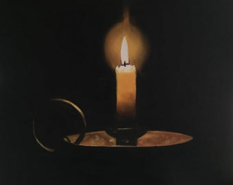 Candle Painting Candle Art Candle PRINT Candles - Art Print - from original painting by J Coates