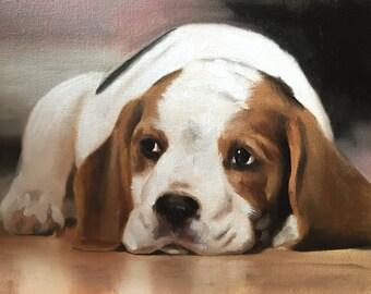 Beagle Dog Art Print, Beagle Painting, Beagle Poster, Beagle Decor, Beagle Gifts, Beagle Portrait, Beagle Gift, Beagle Lover Gift