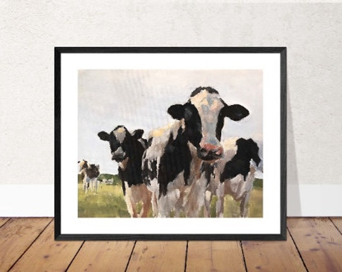 Cows Painting, PRINTS, Canvas Commissions ,Fine Art, from original oil painting by James Coates