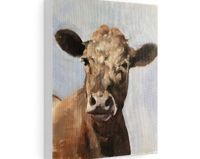 Cow Painting, PRINTS, Canvas, Posters, Originals, Commissions - Fine Art, from original oil painting by James Coates