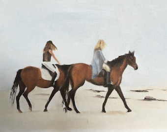 Horse Painting Horse Art Horse PRINT Horse Riding - Art Print  - from original painting by J Coates