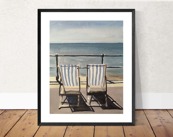 Lifestyle Painting - Beach art - Beach Print - Fine Art - from original oil painting by James Coates