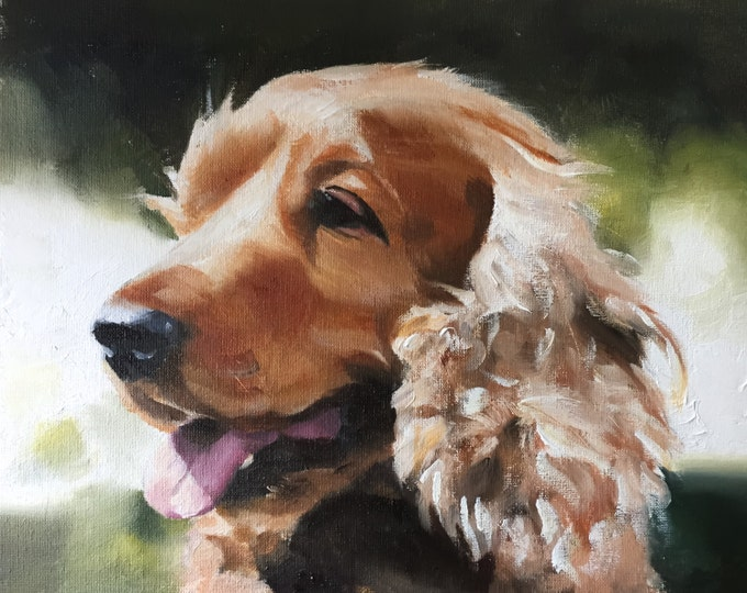 Dog Painting - Dog art - Dog Print - Fine Art - from original oil painting by James Coates