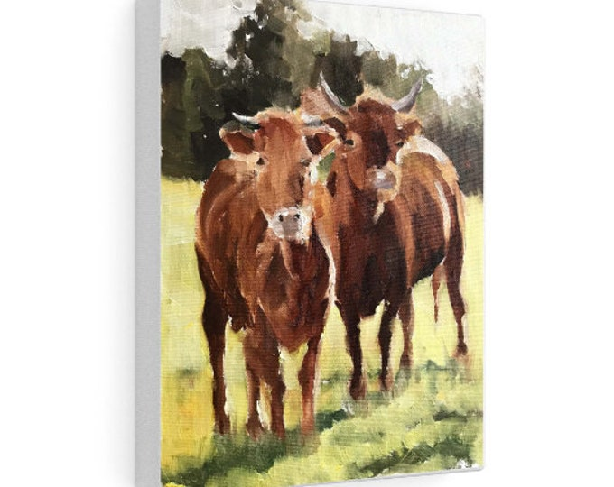 Cow Painting ,Cow art, Cow Print ,Fine Art - from original oil painting by James Coates
