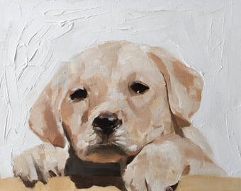 Labrador Art Painting Labrador Art dog PRINT Labrador Puppy Dog - Art Print - from original painting by J Coates