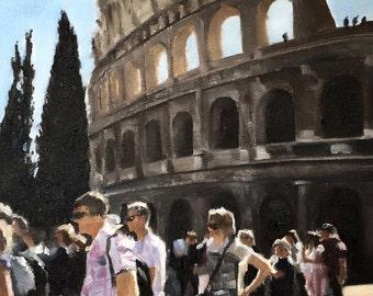 Colosseum Painting Rome Art Rome PRINT The Colosseum Rome  - Art Print - from original painting by J Coates