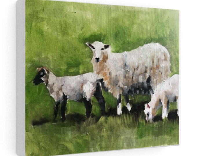 Sheep Painting, sheep art, Sheep Print ,Fine Art ,from original oil painting by James Coates