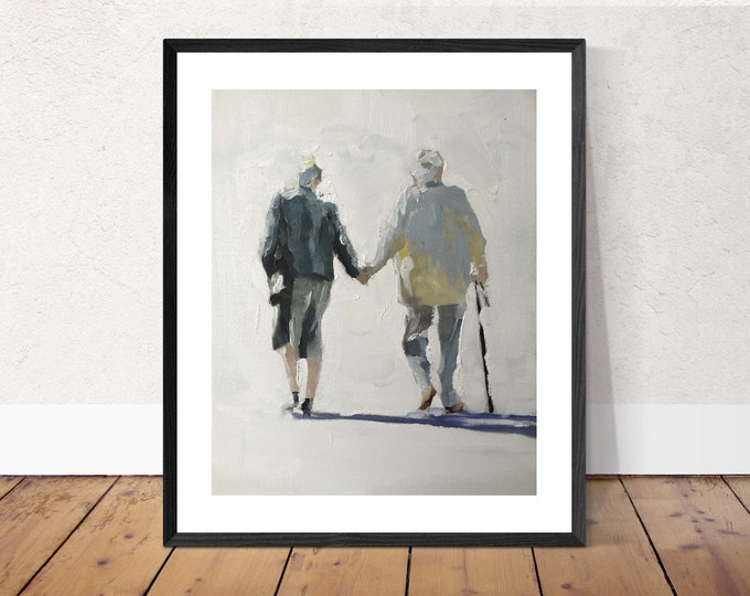 Couple Painting - Poster -Wall art - Canvas Print - Fine Art - from original oil painting by James Coates