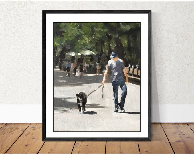 People Painting Wall art - Canvas Print - Fine Art - from original oil painting by James Coates