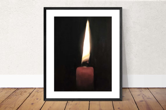 Candle Painting Candle Art Candle PRINT Candle Art Print - 8 x 10 inches - from original painting by J Coates Original Oil Painting or Print
