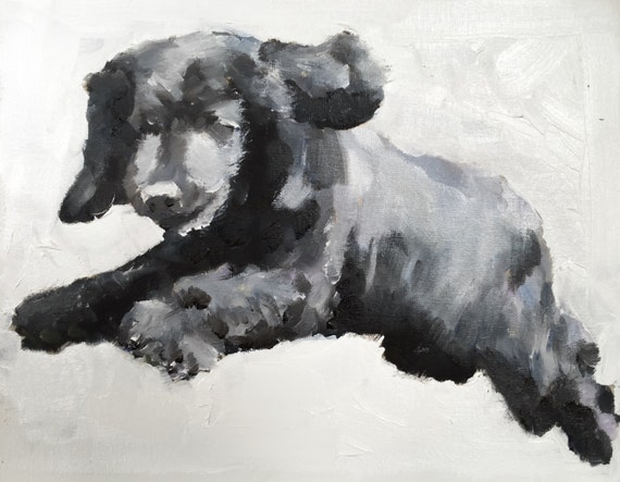 Dog Running Picture Dog Running Art PRINT Leaping Dog - Art Print - from original painting by J Coates Original Oil Painting or Print