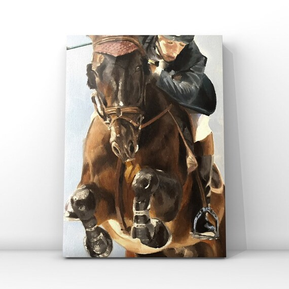 Horse Riding Painting Horse Art Horse Rider Art PRINT Horse Riding - Art Print  - from original painting by J Coates
