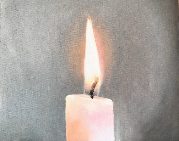 Candle Art Candle Painting Candle PRINT Candles - Art Print- from original painting by J Coates