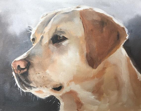 Labrador Painting Art Print, Labrador Painting, Labrador Gift, Labrador Wall Art, Labrador Wall Decor, Dog Lover Gift, Labrador Poster