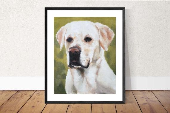 Labrador Dog Painting Labrador Art PRINT Labrador Dog - Art Print - 8 x 10 inches - from original painting by J Coates