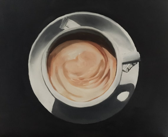 Coffee Painting Coffee Art Coffee PRINT Cup of Coffee - Art Print - from original painting by J Coates