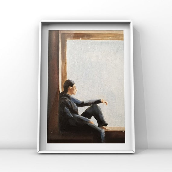 For Les - woman in Window canvas plus free print