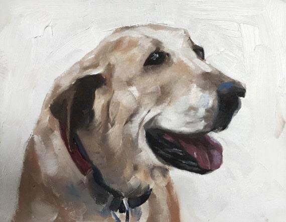 Labrador Dog Painting Labrador Art Dog PRINT Labrador Dog - Art Print - from original painting by J Coates