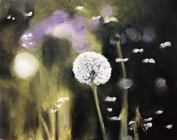 Daisy Painting Daisy Art Flower PRINT Art Print - from original painting by J Coates Original Oil Painting or Print