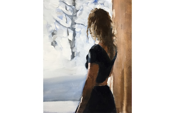 Woman At Window Painting Picture Art PRINT Woman - Art Print - from original painting by J Coates