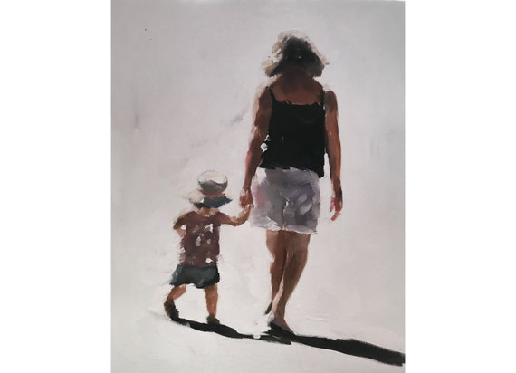 Mother and Child - Art Print - 8 x 10 inches - from original painting by J Coates