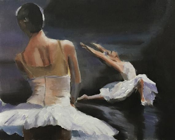 Ballet Dancing Painting Dancing Art PRINT Art Print - from original painting by J Coates