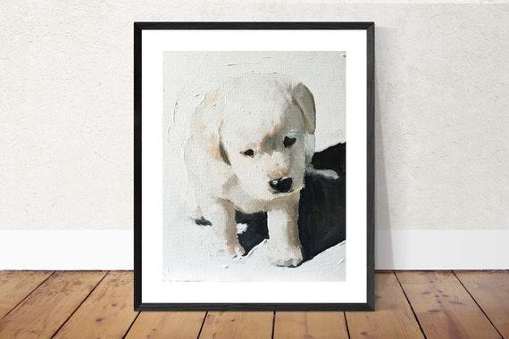 Labrador Painting Labrador Art dog PRINT Labrador Puppy Dog - Art Print - from original painting by J Coates