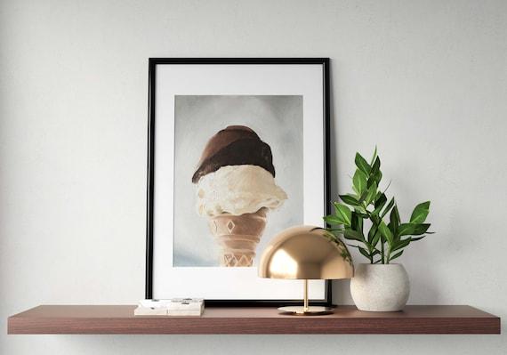 Ice Cream Painting Ice Cream Art Ice Cream PRINT Ice Cream - Art Print - from original painting by J Coates Original Oil Painting or Print