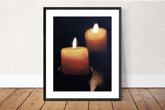 Candles Painting Candles Art Candles PRINT Candles - Art Print - from original painting by J Coates