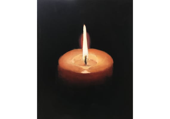 Candle Art Candle Painting Candle PRINT Candles - Art Print- from original painting by J Coates Original Oil Painting or Print