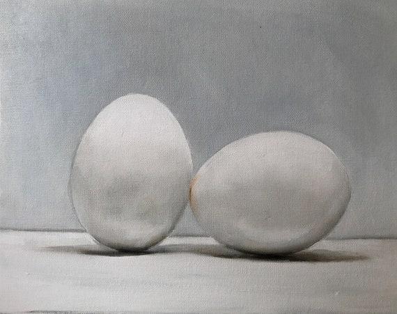 Egg Painting Egg Art Egg PRINT Eggs Art Print - from original painting by J Coates Original Oil Painting or Print