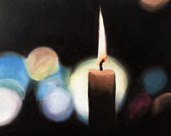 Candle Painting Candle Art Candle PRINT Candle Art Print  - from original painting by J Coates Original Oil Painting or Print