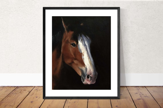 Horse Painting Horse Art PRINT Portrait Horse - Art Print - from original painting by J Coates Original Oil Painting or Print