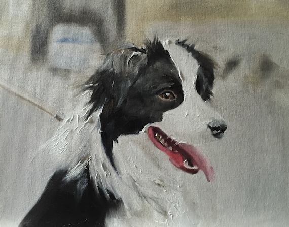 Dog Painting Dog Art Dog PRINT Collie Dog - Art Print - from original painting by J Coates Original Oil Painting or Print