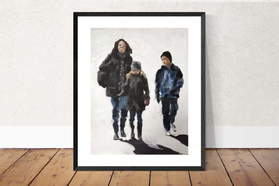 Family Walk Painting Family Art PRINT Family Walk - Art Print - from original painting by J Coates