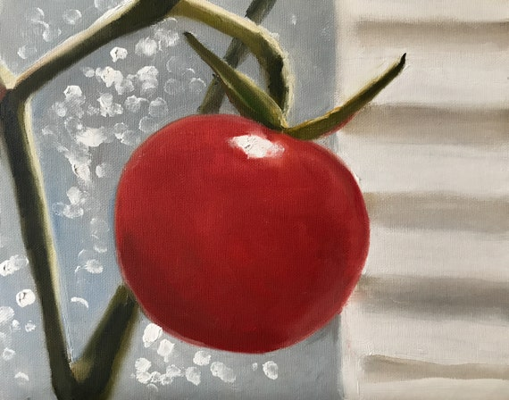 Tomato Painting Tomato Still Life Art PRINT - Tomato Oil Painting Kitchen Art Art